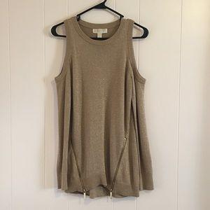 MICHAEL Michael Kors • Gold Cold Shoulder Sweater
